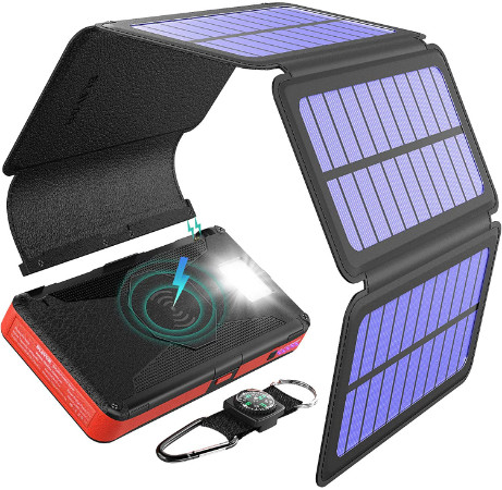 Blavor Five Panel Solar Charger — Best for Wireless Charging