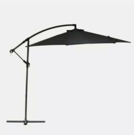 Marquee 3m Charcoal Cantilever Umbrella — Best for Sun Protection
