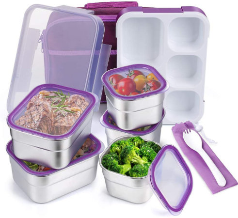 DaCool Kids Lunch Box Bento Stainless Steel Containers