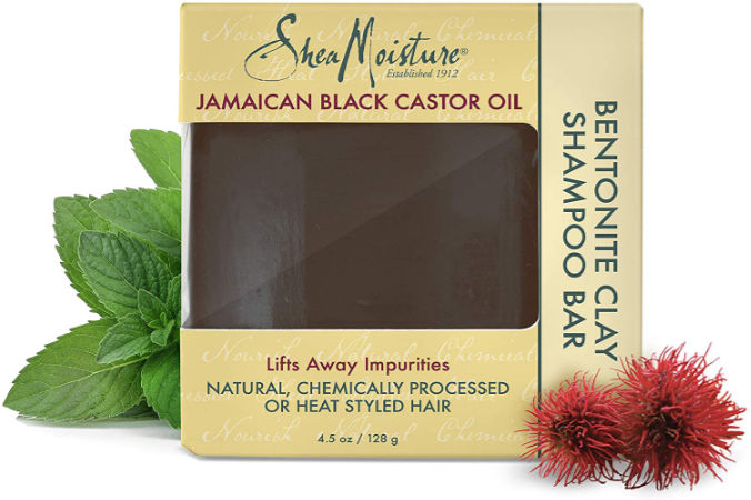 Shea Moisture Jamaican Black Castor Oil Bentonite Clay Shampoo Bar