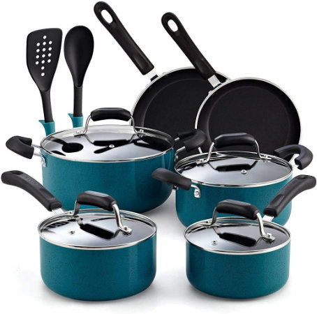 Cook N Home 12-Piece Cookware Set — For Non-Stick Cooking