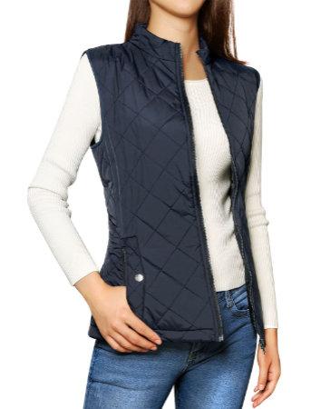 Allegra K Women's Zip Vest