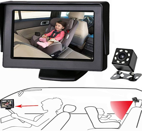 Itomoro Baby Car Mirror — Engineered for less vibration and shakiness